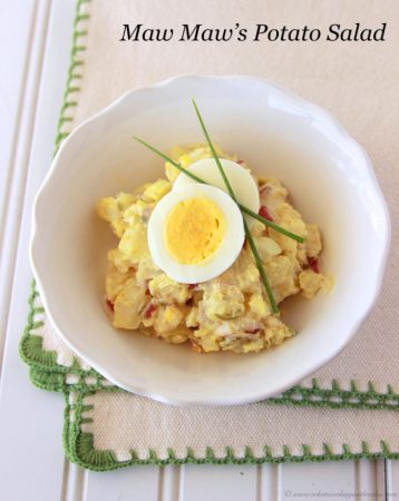 Maw Maw's Potato Salad on www.whatscookingwithruthie.com