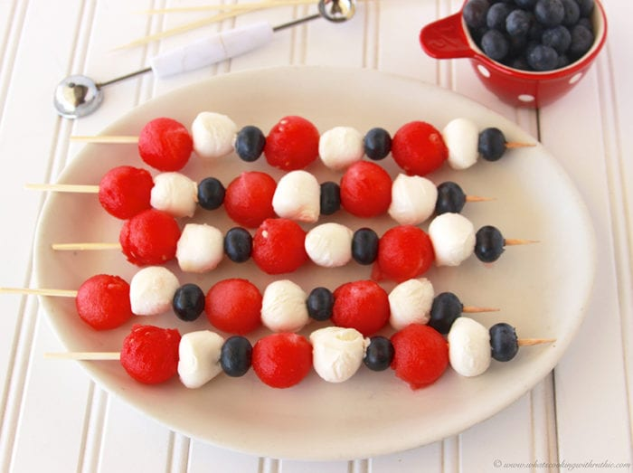 Patriotic Fruit And Cheese Kabobs Cooking With Ruthie