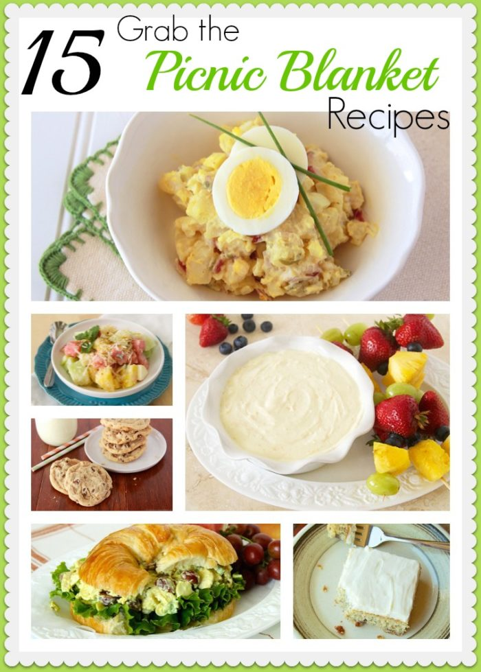15 Grab the Picnic Blanket Recipes by www.whatscookingwithruthie.com