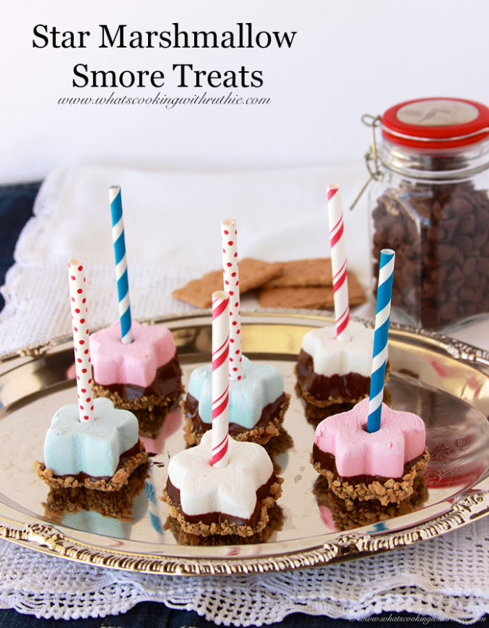 Star Marshmallow Smore Treats by www.whatscookingwithruthie.com