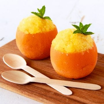 Healthy Orange Granitas by www.whatscookingwithruthie.com