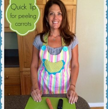 Quick Tip for peeling carrots by www.cookingwithruthie.com