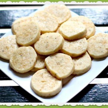Rosemary Shortbread Cookies by www.highheelstohotwheels.com on www.whatscookingwithruthie.com