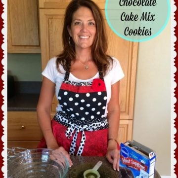 Triple Chocolate Cake Mix Cookies Video by www.cookingwithruthie.com