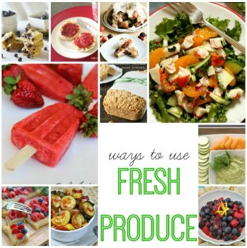 Ways to use Fresh Produce on www.whatscookingwithruthie.com