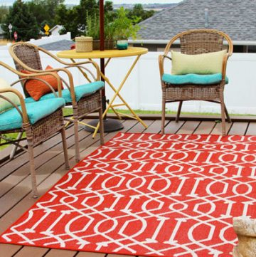 DIY Deck Project by www.cookingwithruthie.com