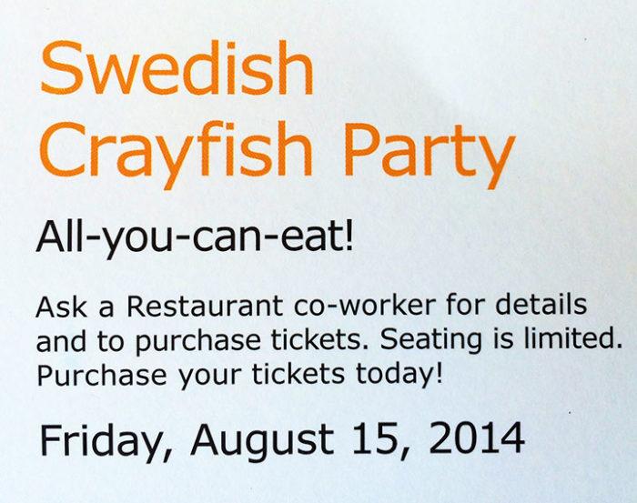 Ikea Crawfish Dinner