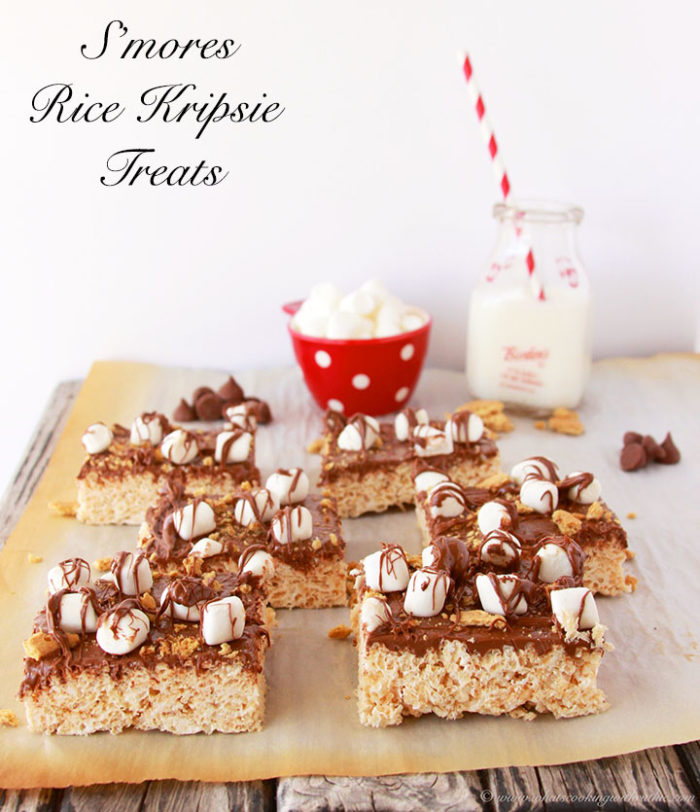 S'mores Rice Krispie Treats by www.cookingwithruthie.com