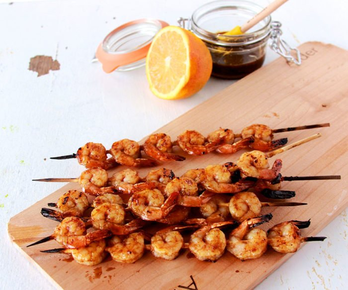 Sweet and Sour Shrimp Skewers on www.cookingwithruthie.com