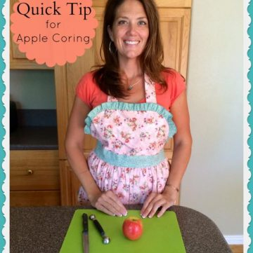 Quick Tip for Apple Coring on www.cookingwithruthie.com