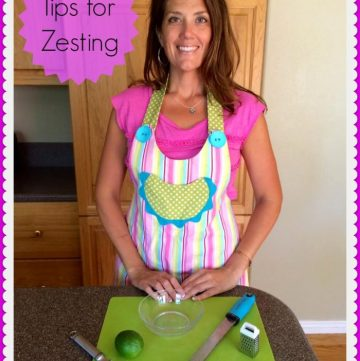 Tips for Zesting by www.cookingwithruthie.com