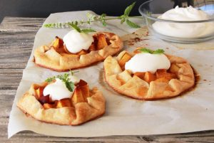 Mini Peach Galette by www.cookingwithruthie.com