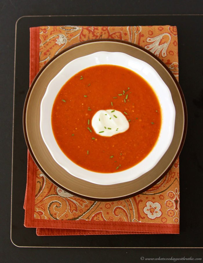 Roasted Tomato Soup by www.cookingwithruthie.com