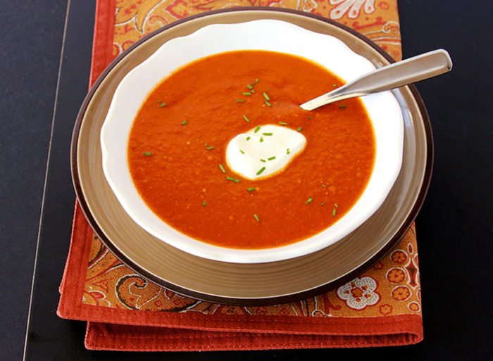Roasted Tomato Soup by www.whatscookingwithruthie.com