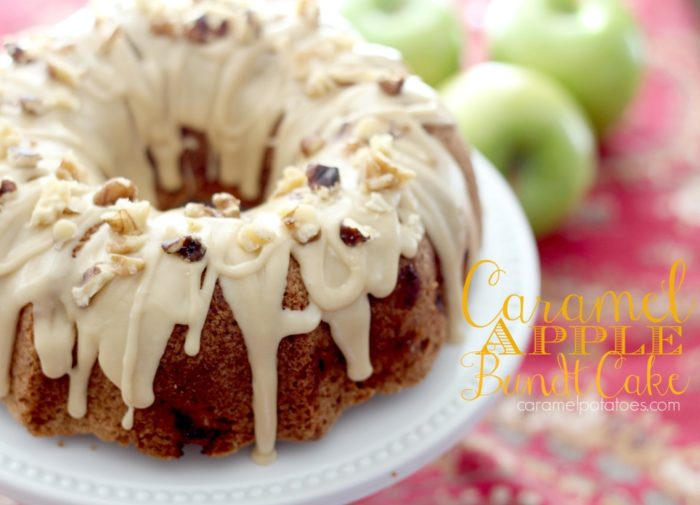 Caramel Apple Bundt Cake Recipe is such a sweet pairing. . . there's something about Caramel and Apples that makes me drool! by cookingwithruthie.com