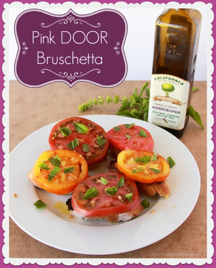 Pink Door Bruschetta by www.cookingwithruthie.com