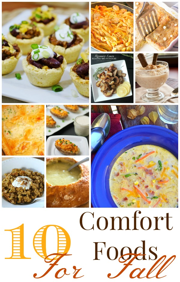 Fall Comfort Foods on www.cookingwithruthie.com