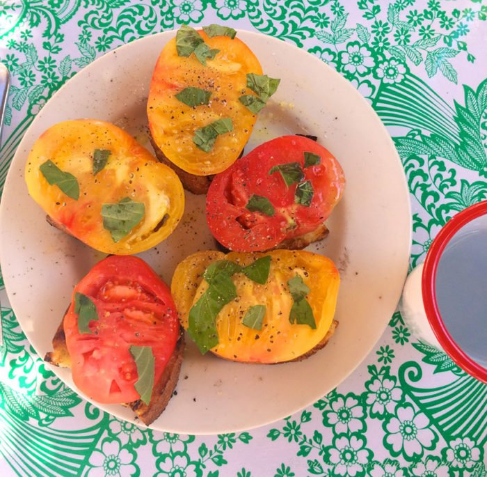 Pink Door Bruschetta by www.cookingwithruthie.com