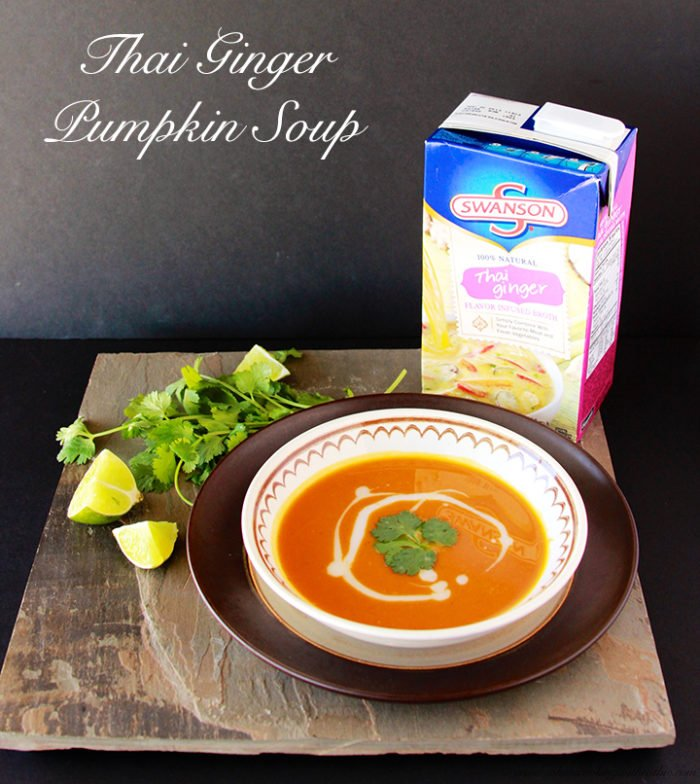 Thai Ginger Pumpkin Soup by www.cookingwithruthie.com