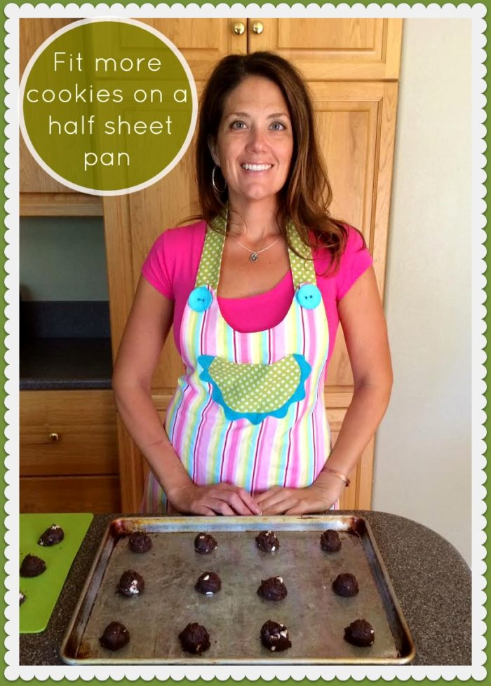 How to Fit more Cookies on a Half Sheet Pan by www.cookingwithruthie.com
