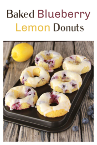 Baked Blueberry Lemon Donuts | Our lLemon Blueberry Donuts with a lemon glaze are sure to be loved and made again and again in your kitchen! || cookingwithruthie.com #bakeddonuts #donuts #blueberrydonuts #lemonglaze