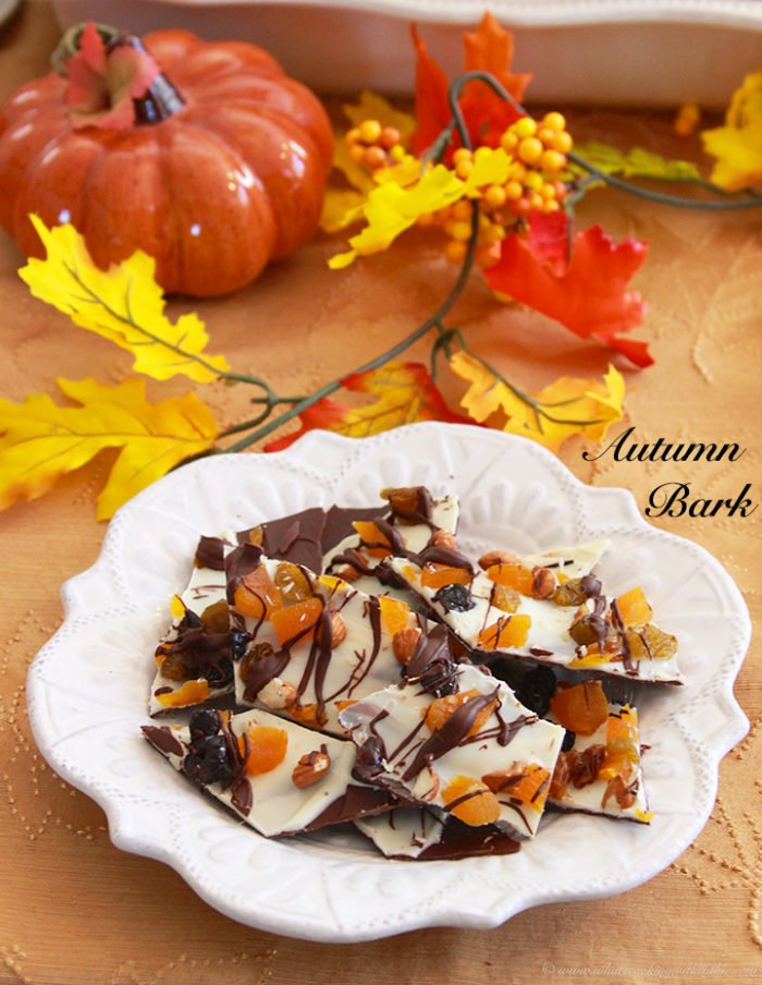 Autumn Bark is a beautifully simple addition to your fall gatherings by www.cookingwithruthie.com #chocolate #dessert #fall