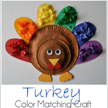 Turkey Color Matching Craft by www.iheartcraftythings.com on www.cookingwithruthie.com