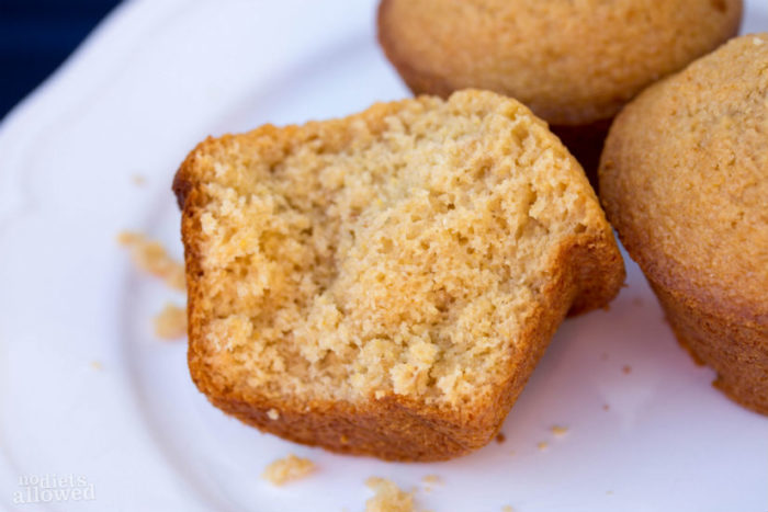 Honey Cornbread Muffins are a simple addition to any soup this winter! by www.nodietsallowed.com on www.cookingwithruthie.com #recipes #bread