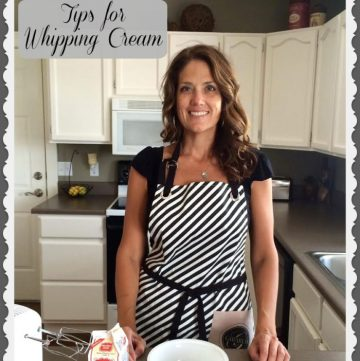 Tips for Whipping Cream video on www.cookingwithruthie.com #dessert #whipcream #holidays