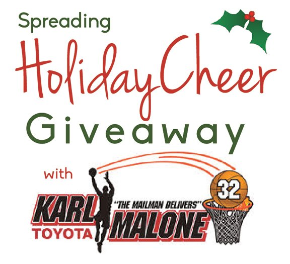Spreading Holiday Cheer with Karl Malone Toyota Giveaway on www.cookingwithruthie.com