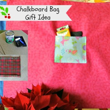 Chalkboard Bag Gift Idea by www.polkadotpoplar.com on www.cookingwithruthie.com #craft #gift
