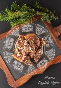 Gram's English Toffee take 2 is one of our families very favorite Holiday recipes! #chocolate #recipe