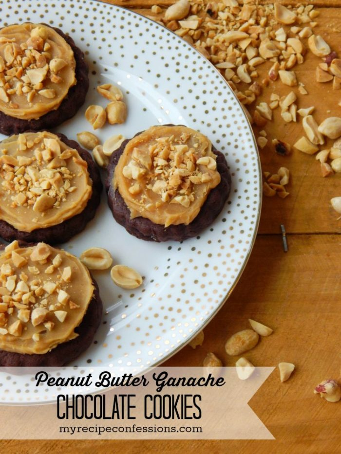 Peanut Butter Ganache Chocolate Cookies by www.myrecipeconfessions.com on www.cookingwithruthie.com #cookies #recipe #peanutbutter