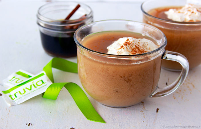 Truvia® Cinnamon Chai Nog will keep you warm all winter long! by www.cookingwithruthie.com #recipe #beverage