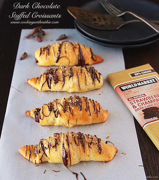 Dark Chocolate Stuffed Croissants by Cooking with Ruthie
