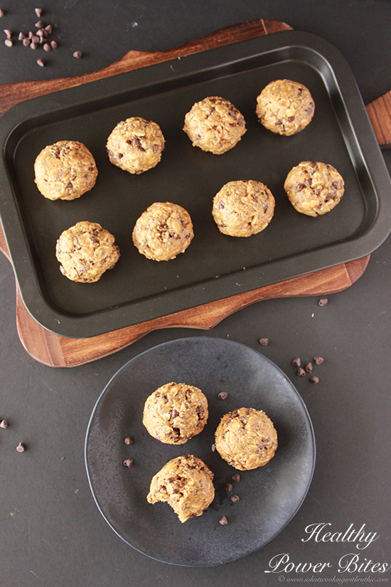 Healthy Power Bites Recipe on www.cookingwithruthie.com You'll love this healthy for you snack!