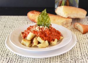 Homemade Gnocchi with Bolognese Sauce you'll be thrilled with how simple it is to make! by www.cookingwithruthie.com
