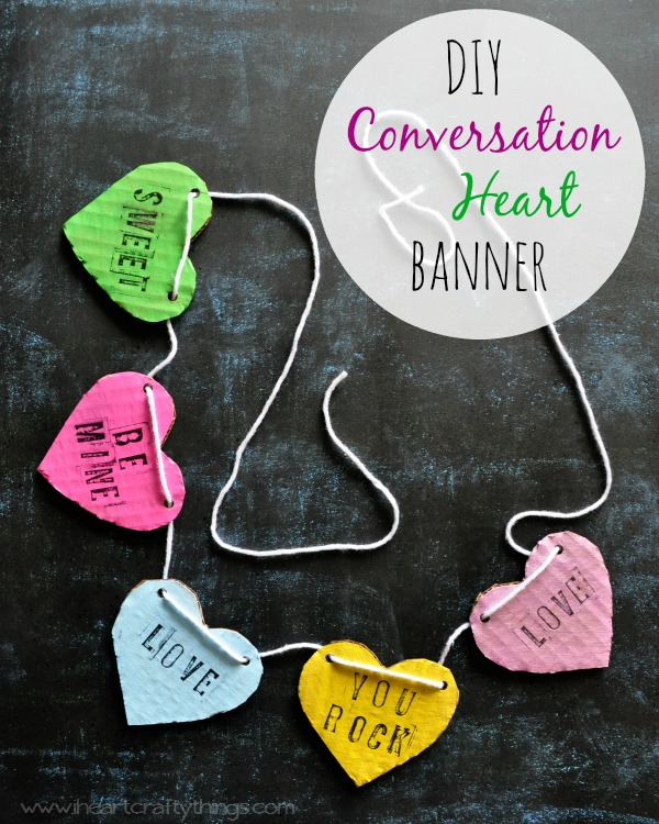 1DIY Conversation Heart Banner