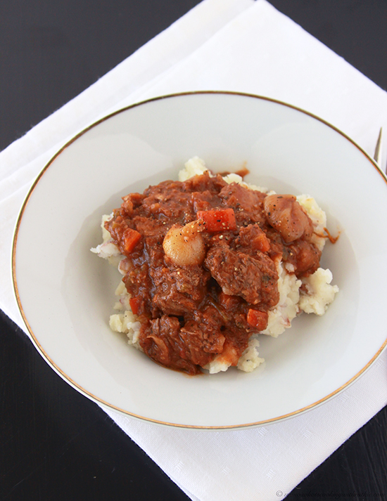 Beef Bourguignon by www.cookingwithruthie.com a classic french dish you can make at home!