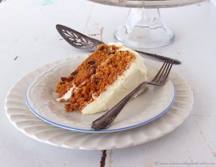Carrot Cake with Lemon Cream Cheese Frosting by www.cookingwithruthie.com will make you famous where you take it! Delish!