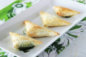 Spanakopita by www.cookingwithruthie.com a festive spring appetizer!