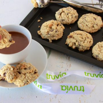 Truvia Oatmeal Chocolate Chip Cookies by www.cookingwithruthie.com will take you back to grandmas kitchen!