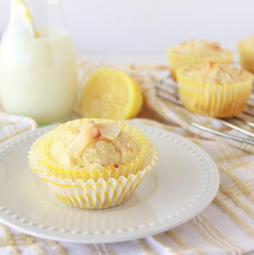 Lemon Coconut Muffins by www.cookingwithruthie.com are just what your spring time brunch needs- Yummmm!