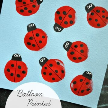 Balloon Printed Lady Bugs by www.iheartcraftythings.com on www.cookingwithruthie.com is a fun project for you and the kids to make this spring!