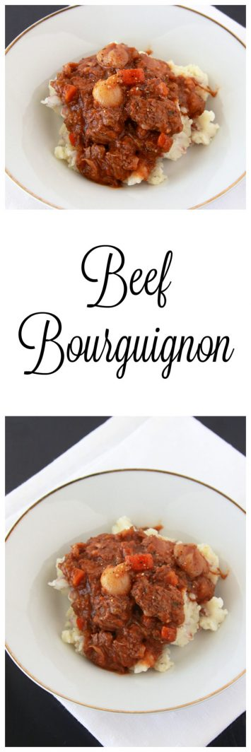 Beef Bourguignon ion www.cookingwithruthie.com s a classic French dish that's comfort food at it's finest but don't worry it's simple enough to successfully make in your own kitchen!