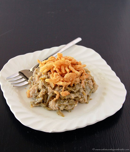 Easy Green Bean Casserole by www.cookingwithruthie.com is exactly the recipe from your childhood! YUM.