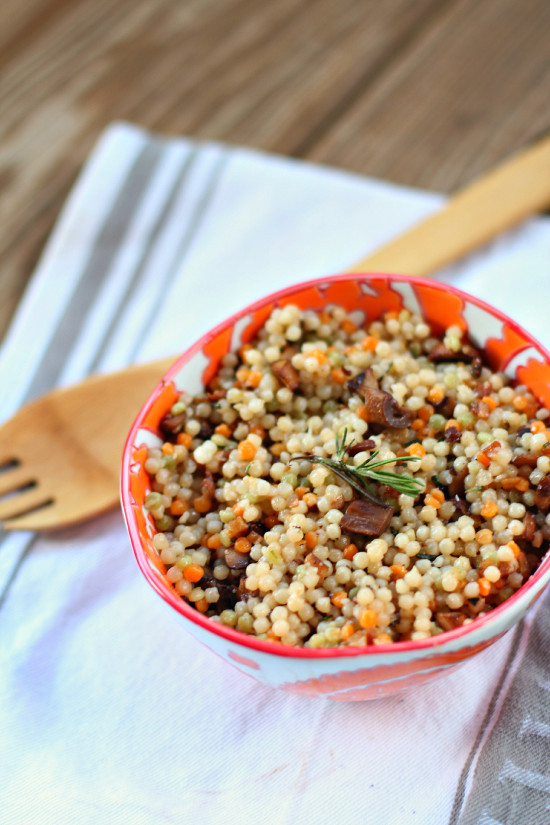 Mushroom and Herb Coucous