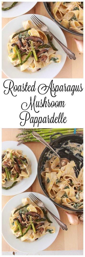 Our Pappardelle with Asparagus, Mushroom, and Ricotta Recipe is as easy as 1-2-3!by cookingwithruthie.com