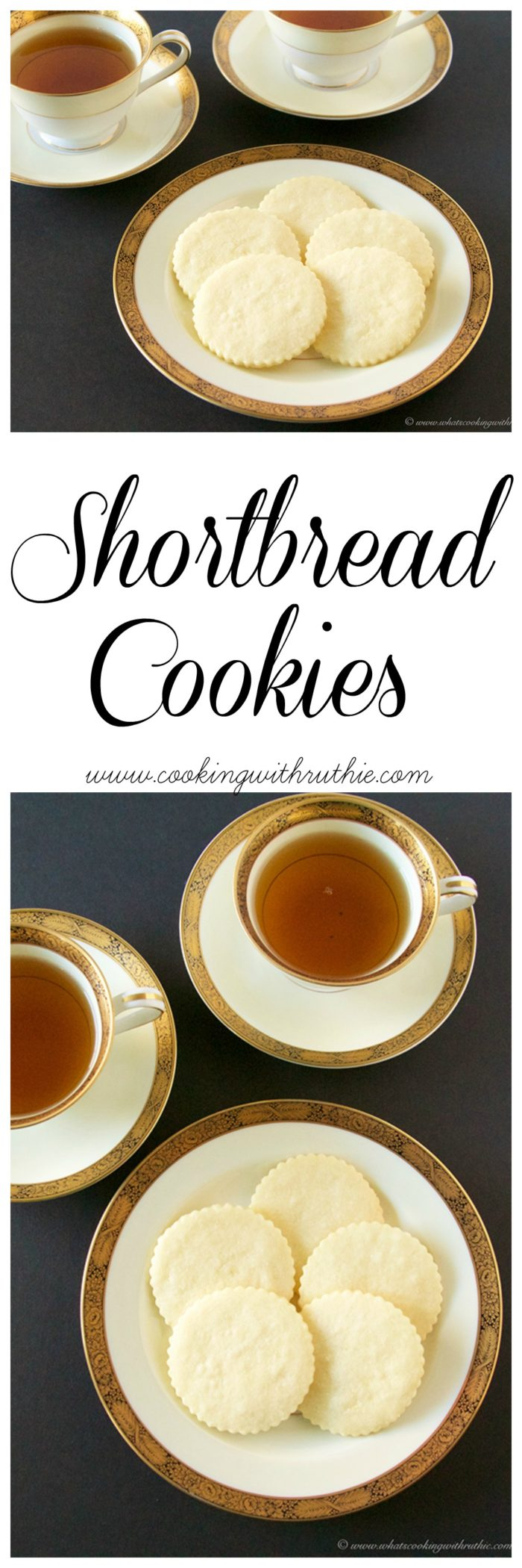 Shortbread Cookies on www.cookingwithruthie.com go beautifully with your morning coffee or tea!