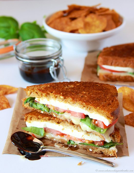 ... caprese flavors wrapped up in a grilled cheese sandwich! YUM